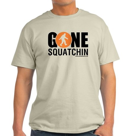 Gone Squatchin Mens Light T-Shirt Orng/Black Logo