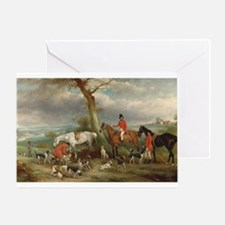 Vintage Painting of the Hunt Greeting Card