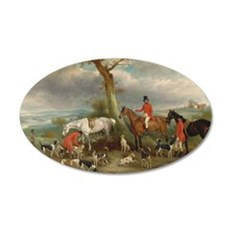 Vintage Painting of the Hunt Wall Decal