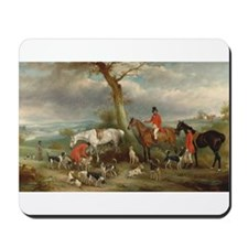 Vintage Painting of the Hunt Mousepad