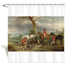 Vintage Painting of the Hunt Shower Curtain