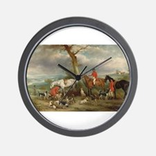 Vintage Painting of the Hunt Wall Clock