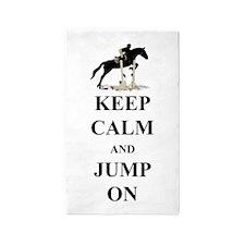 Keep Calm and Jump On Horse 3'x5' Area Rug
