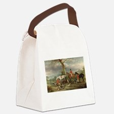 Vintage Painting of the Hunt Canvas Lunch Bag