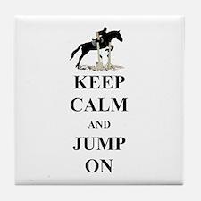 Keep Calm and Jump On Horse Tile Coaster