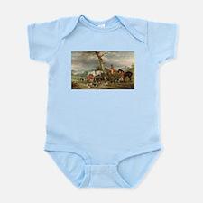 Vintage Painting of the Hunt Infant Bodysuit