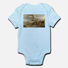Vintage Painting of the Hunt Onesie
