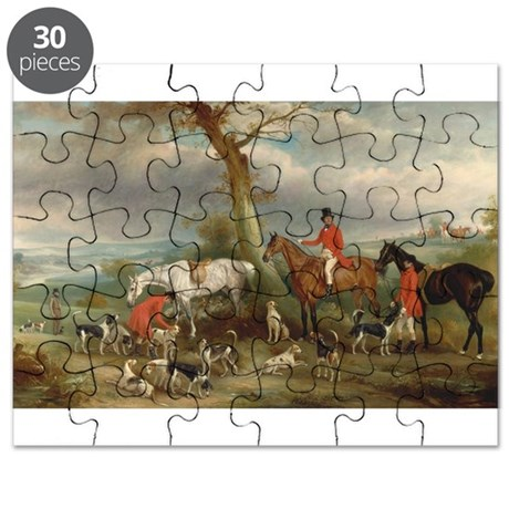 Vintage Painting of the Hunt Puzzle