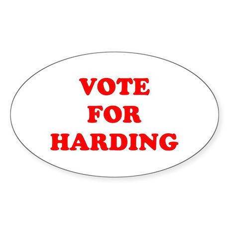 Vote For Harding Oval Sticker