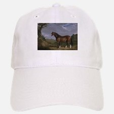 Vintage Painting of Clydesdale Stallion Baseball Baseball Cap