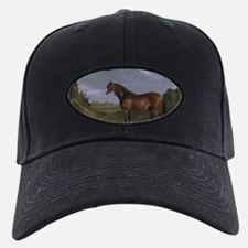 Vintage Painting of Clydesdale Stallion Baseball Hat