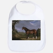 Vintage Painting of Clydesdale Stallion Bib