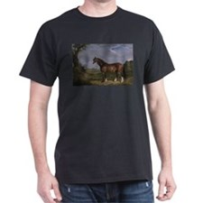 Vintage Painting of Clydesdale Stallion T-Shirt