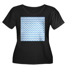 Pastel Blue Zagzag Chevron. T