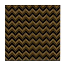 Dark Brown Zagzag Chevron. Tile Coaster