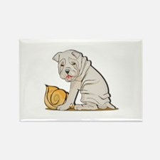 Sharpei with Shell Rectangle Magnet (10 pack)