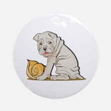 Sharpei with Shell Ornament (Round)