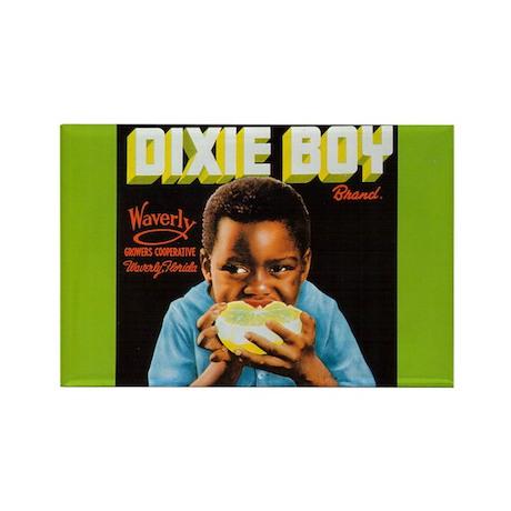 Dixie Boy Crate Label Art Rectangle Magnet