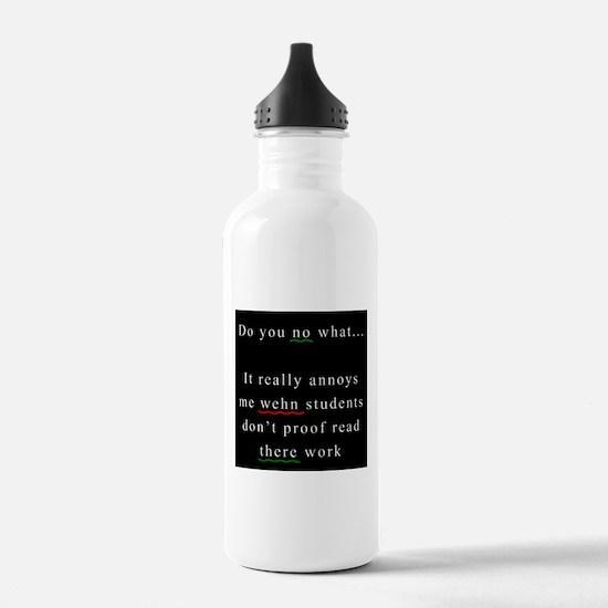 Proof Read BLACK Water Bottle