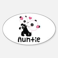 Aunt Panda Bear Sticker (Oval)