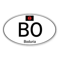 Car code Boduria White Decal