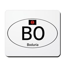 Car code Boduria White Mousepad