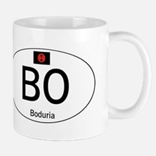 Car code Boduria White Mug