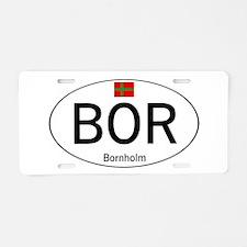 Car code Bornholm Aluminum License Plate