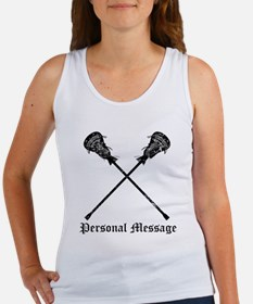 Personalized Lacrosse Sticks Women's Tank Top