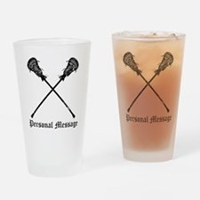 Personalized Lacrosse Sticks Drinking Glass