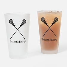 Personalized Lacrosse Sticks Drinking Glass