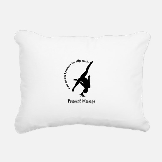 Personalize I Flip Out Rectangular Canvas Pillow