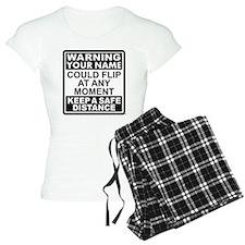Personalized Gymnastic Warning Pajamas