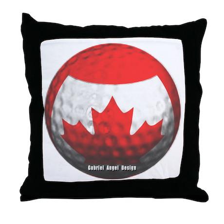 Canadian Golf Throw Pillow