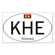 Car code Khemed White Stickers