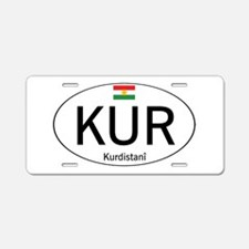 Car code Kurdistan - White Aluminum License Plate