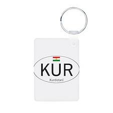Car code Kurdistan - White Keychains