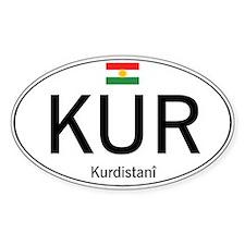 Car code Kurdistan - White Decal