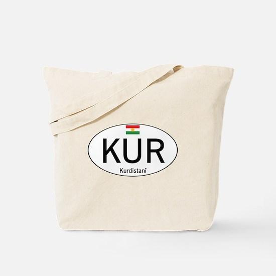 Car code Kurdistan - White Tote Bag