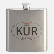 Car code Kurdistan - White Flask