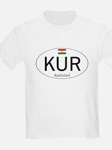 Car code Kurdistan - White T-Shirt