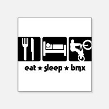 "BM02 EAT SLEEP BMX Square Sticker 3"" x 3"""
