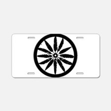 Feather Spokes Aluminum License Plate