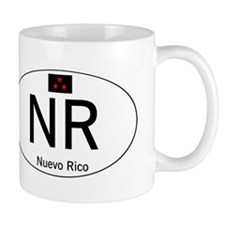 Car code Nuevo Rico - White Small Mug