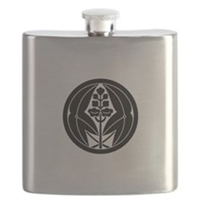 Embracing arrowheads A in circle Flask