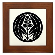Embracing arrowheads A in circle Framed Tile