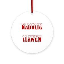 Nadolig Llawen Ornament (Round)