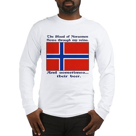 Norseman Blood & Beer (Norway Long Sleeve T-Shirt