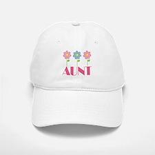 Aunt Gift (Flowered) Baseball Baseball Cap