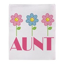Aunt Gift (Flowered) Throw Blanket